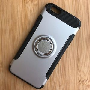 Accessories - NEW Iphone 6/6s/6+/6s+ Silver Finger Ring Case